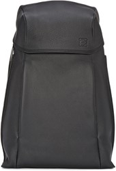 Loewe Black Leather T Backpack