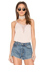 Eight Sixty Lace Trim Tank Blush