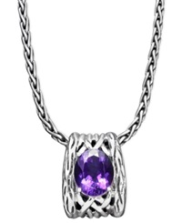 Effy Collection Balissima By Effy Amethyst Weave Pendant 4 1 10 Ct. T.W. In Sterling Silver