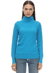 Sportmax Miele Cashmere Knit Sweater Turquoise