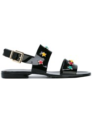 Red Valentino Star Stud Sandals Black