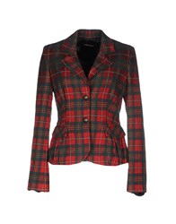 Roberta Scarpa Suits And Jackets Blazers Women Red