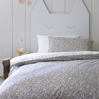 Christy Ladybird Duvet Set White Blue