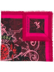 Alexander Mcqueen Printed Scarf Pink