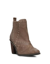 Fergie Dina Studded Suede Ankle Boots Truffle
