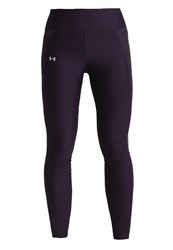 Under Armour Fly By Tights Imperial Purple Metallic Silver Reflective
