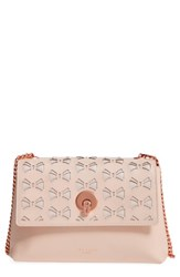 Ted Baker London Leather Crossbody Bag Beige Straw