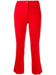 Alberto Biani Slim Fit Cropped Trousers Red