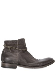 Shoto Washed Leather Ankle Boots