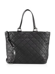 Michael Michael Kors Quilted Large East West Leather Tote Black