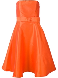 P.A.R.O.S.H. Flared Dress Yellow And Orange