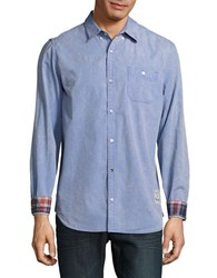 Buffalo David Bitton Casual Faded Striped Shirt Faded Blue
