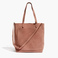 Madewell The Suede Medium Transport Tote Dusty Clay