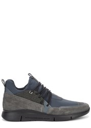 Android Runyon Neoprene And Suede Trainers Grey
