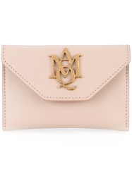 Alexander Mcqueen Insignia Envelope Card Holder Women Calf Leather One Size Pink Purple