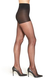 Nordstrom Plus Size Women's Diamond Knit Sheer Pantyhose Black