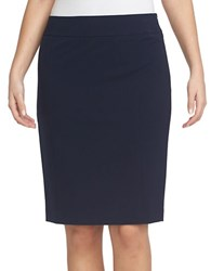 Chaus Elizabeth Pencil Skirt Navy