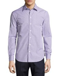 Armani Collezioni Box Check Cotton Sport Shirt Multicolor
