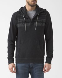 Element Dark Grey Native Cornell Henley Hoodie With Buttoned Collar