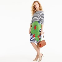J.Crew Tall Pencil Skirt In Ratti Striped Floral