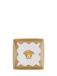Versace I Love Baroque Square Valet Tray White Gold