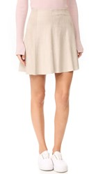 Bb Dakota Caswell Faux Suede Skirt Bone