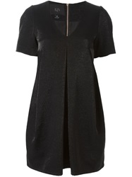 Ilja Box Pleat V Neck Dress Black
