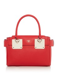 Guess Luma Small Girlfriend Satchel Bag Red