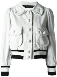 Marc Jacobs Corduroy Bomber Jacket White