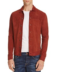 Scotch And Soda Suede Shirt Jacket Ranch Red
