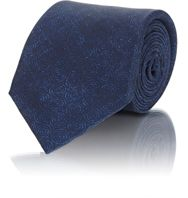 Ralph Lauren Black Label Circle Print Poplin Necktie Blue