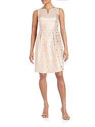 Kay Unger Embellished Keyhole Dress Pink