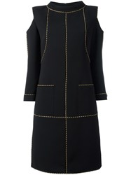 Chanel Vintage Cut Out Shift Dress Black