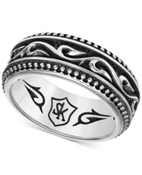 Scott Kay Men's Engraved Band In Sterling Silver