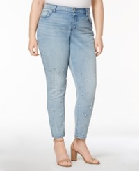 Styleandco. Style Co Plus Size Pretty Pearl Embellished Skinny Jeans Created For Macy's Nokia