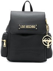 Love Moschino Logo Plaque Backpack 60