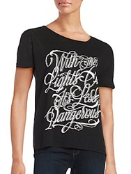 The Kooples Graphic Tattoo Tee Black