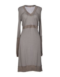 Appartamento 50 Knee Length Dresses Grey