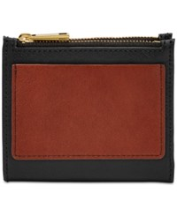 Fossil Shelby Mini Multifunction Wallet Black Red Gold
