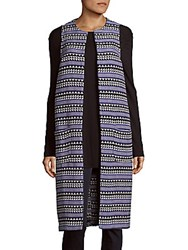 Bcbgeneration Printed Open Front Cardigan Academy Blue