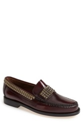 Caminando Studded Leather Loafer Men Purple