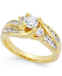 Macy's Diamond Swirl Bridal Ring 1 Ct. T.W. In 14K Gold Or White Gold Yellow Gold