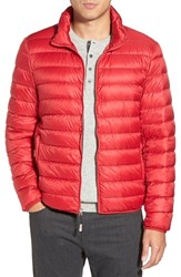 Men's Tumi 'Pax' Packable Quilted Jacket Red