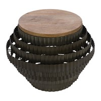 Amara Ribbed Side Table