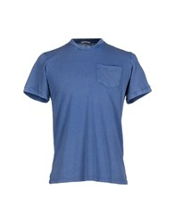 Original Vintage Style Topwear T Shirts Men Blue