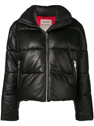 Zadig And Voltaire Fashion Show Cropped Puffer Jacket Black