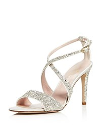 Kate Spade New York Felicity Glitter High Heel Sandals Crystal Silver