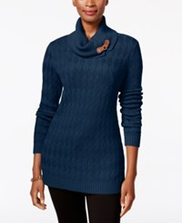 Charter Club Turtleneck Sweater Only At Macy's Dark Azure Blue