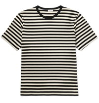 Dries Van Noten Hunt Slim Fit Striped Cotton Jersey T Shirt Black