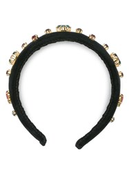 Dolce And Gabbana Crystal Embellished Headband Black